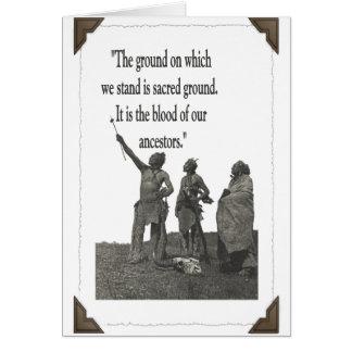 Sacred Ground Card