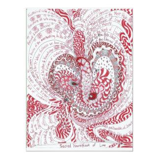 "Sacred Heart 6.5"" X 8.75"" Invitation Card"