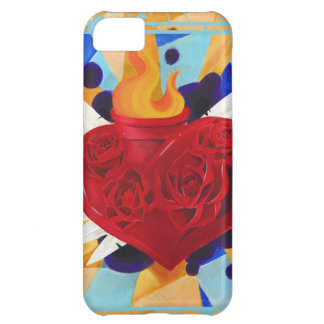 Sacred Heart and Roses Graffitti Phone Case