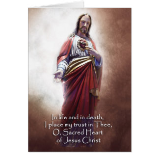 Sacred Heart Antique Greeting Card