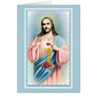 Sacred Heart Catholic Mass Offering Card