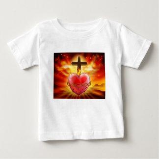 Sacred Heart Christian Illustration Baby T-Shirt