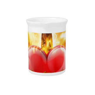 Sacred Heart Christian Illustration Pitcher