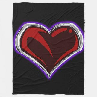 """""""Sacred"""" Heart Emblem Fleece Blanket"""