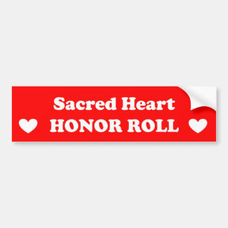 Sacred Heart Honor Roll Bumper Sticker