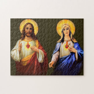 Sacred Heart & Immaculate Heart Catholic Puzzle