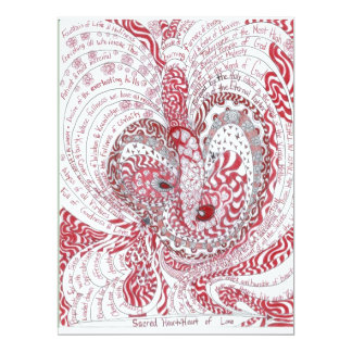Sacred Heart 6.5x8.75 Paper Invitation Card