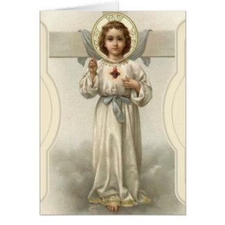 Sacred Heart Jesus Cross Blessings Card