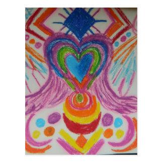 Sacred Heart Light Language Postcard