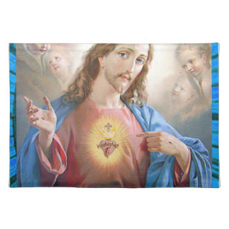 SACRED HEART OF JESUS 05 CUSTOMIZABLE PRODUCTS PLACEMAT