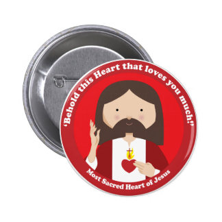 Sacred Heart of Jesus 2 Inch Round Button