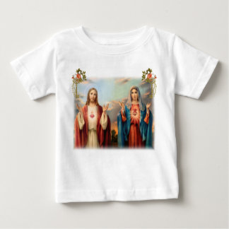 Sacred Heart of Jesus and Immaculate Heart of Mary Baby T-Shirt