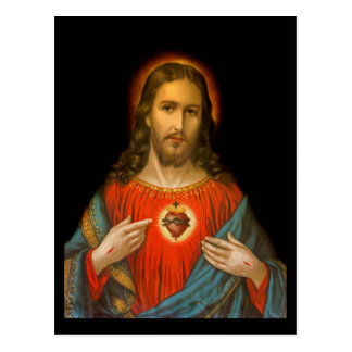 Sacred Heart of Jesus c1899 Germany Postcard