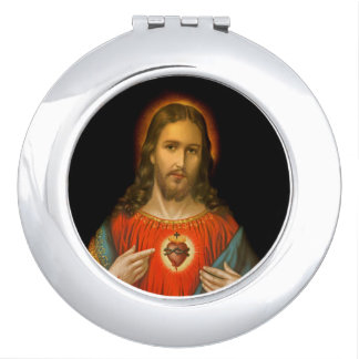 Sacred Heart of Jesus c1899 Travel Mirrors