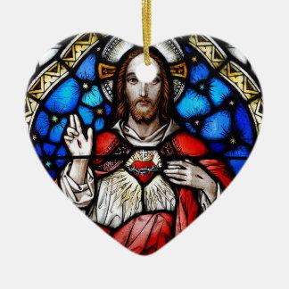 SACRED HEART OF JESUS CERAMIC ORNAMENT