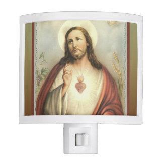 Sacred Heart of Jesus Decorative Border Nite Light