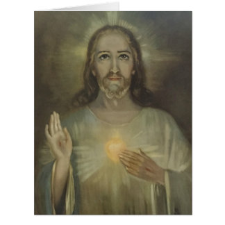 Sacred Heart of Jesus Enthronement Big Greeting Card