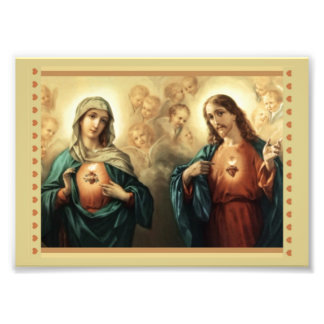 Sacred Heart of Jesus Immaculate Heart of Mary Photo Print