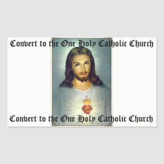 Sacred Heart of Jesus One Holy Catholic Sticker