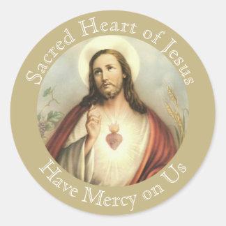 Sacred Heart of Jesus Prayer Round Sticker