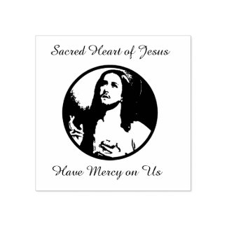 Sacred Heart of Jesus Prayer Rubber Stamp