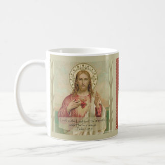 Sacred Heart of Jesus Scripture Quote Coffee Mug