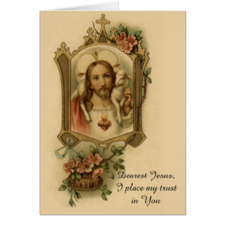 Sacred Heart of Jesus with lamb Card