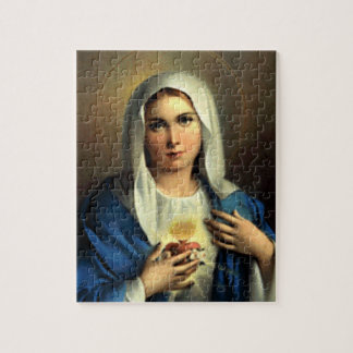 SACRED HEART OF MARY 09 CUSTOMIZABLE PRODUCTS JIGSAW PUZZLE