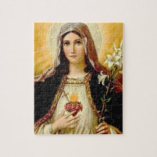 SACRED HEART OF MARY 10 CUSTOMIZABLE PRODUCTS JIGSAW PUZZLE