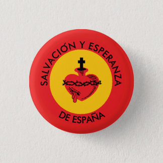 SACRED HEART SPAIN 1 INCH ROUND BUTTON