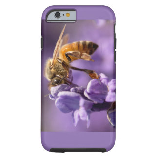 Sacred Honey Bee Pollinating Lavender Herb Tough iPhone 6 Case