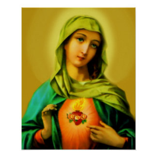 Sacred Immaculate Heart of Virgin Mary Poster