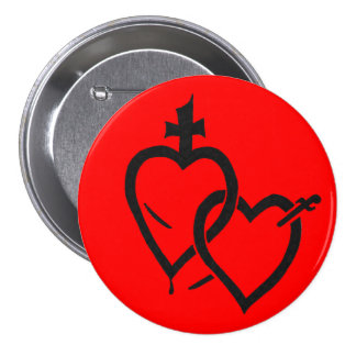 Sacred & Immaculate Hearts Pin