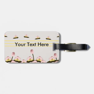 Sacred Lotus Flower Luggage Tag