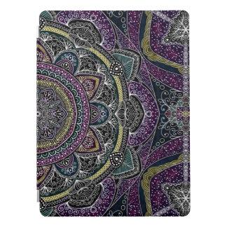 Sacred mandala stars and lace purple and black iPad pro cover