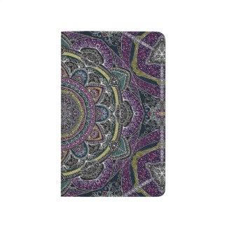 Sacred mandala stars and lace purple and black journal