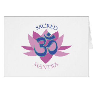 Sacred Mantra Greeting Cards