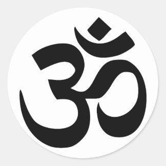sacred om symbol in Sanskrit Classic Round Sticker