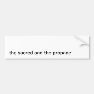 Sacred Propane Bumper Sticker