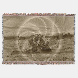 Sacred Rabbit Yoga Pose by Deprise Throw Blanket