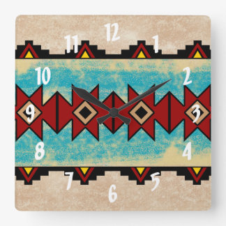 Sacred River Square Wall Clock