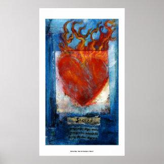 Sacred Sanskrit Heart Poster