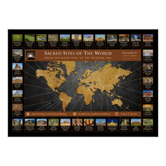Sacred Sites of the World Poster