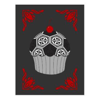 sacred soccer cupcake postcard