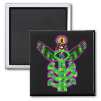 Sacred Tree of Knowledge Square Magnet