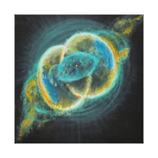 Sacred Union Vesica Piscis Nebulae 111 Canvas Print