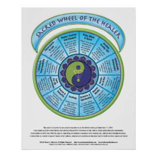 Sacred Wheel of Healer Poster