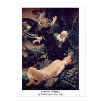 Sacrifice Of Isaac By Rembrandt Van Rijn Postcard