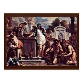 Sacrifice To The Goddess Vesta By Ricci Sebastiano Postcard