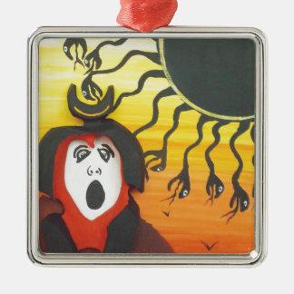 Sacrifice to the Solar Snake God Metal Ornament